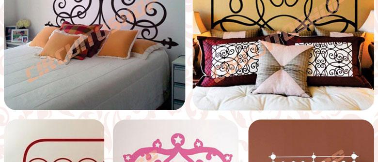 Ideias Artesanato Decoração ~ Adesivo Decorativo De Parede Cabeceira De Cama Frete Grátis! (Adesivos de Parede) a BRL 38 9